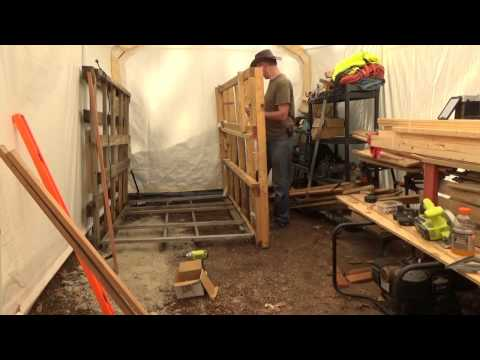 Building A Pallet Wood Storage Rack In My Off Grid Wood Shop