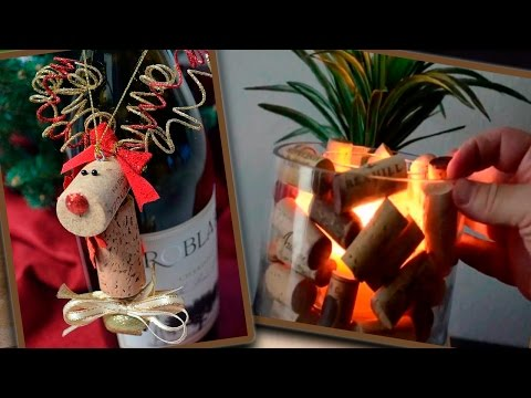 DIY Wine Cork Christmas Crafts Ideas. Crafts from wine corks
