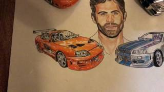 Paul walker drawing |fast and furious|