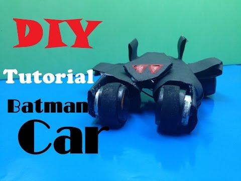 How To Make A Batman Car Out Of Paper - DIY Tutorial Batman Car