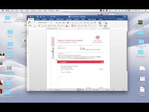 How to edit a word invoice template
