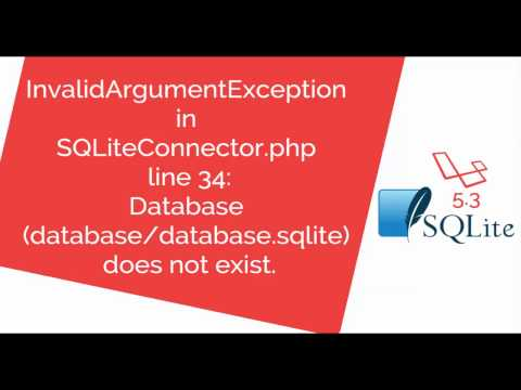 How to Fix Database database sqlite does not exist in Laravel 5 3