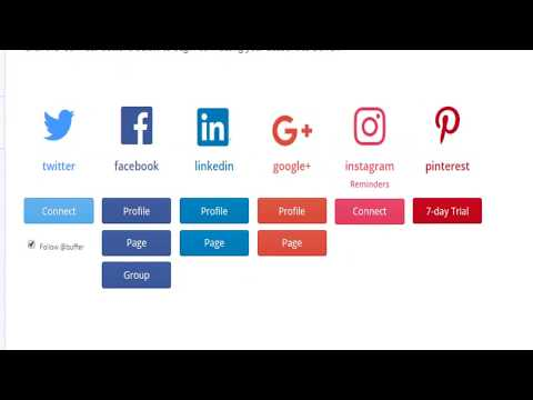 Manage Social Media accounts in one place free  - buffer tutorial video || Digital Marketing Steps