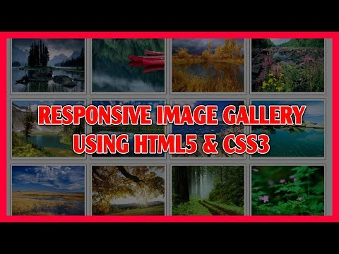 Responsive Image Gallery Using HTML5 & CSS3   Pure CSS3 Image Gallery