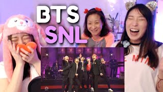 Download BTS - Boy With Luv (SNL LIVE) KOREAN MOM & DAUGHTERS REACTION + Mic Drop Performance Video