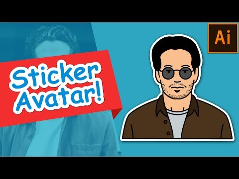How to make Sticker Avatar | Illustrator Tutorial