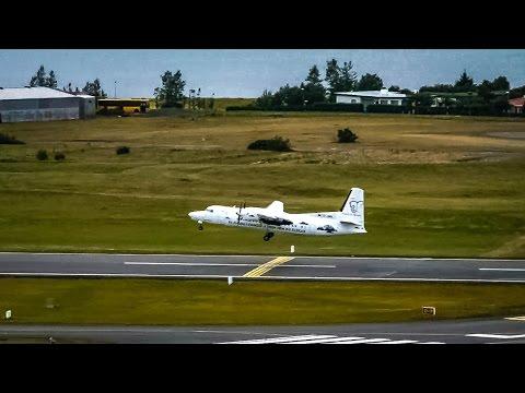 Flugfélag Íslands/Air Iceland Fokker 50 TF-JMS --- Takeoff at Reykjavík-Domestic Airport (Full HD)
