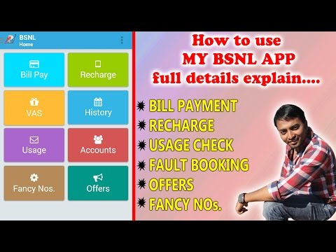 How to use MY BSNL APP ??? full details explained....