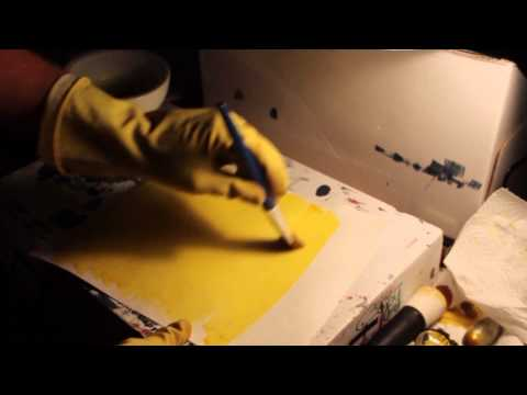 Making a tri color gum print