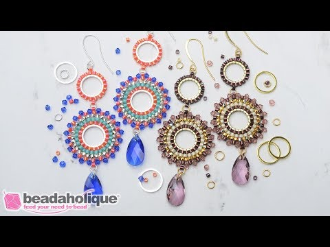 How to Make the Beaded Statement Earring featuring Swarovski Crystals Kit by Beadaholique