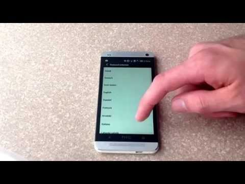 How to add a different language keyboard on a HTC One