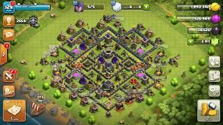 هجوم لايف مسح التاون 9 بالملكة الماشية في الحرب   Attack Live Queen Walk TH9  Clash of clans
