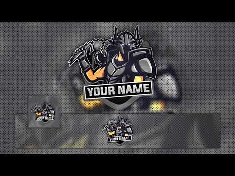 FREE GAMING LOGO w/Banner Template