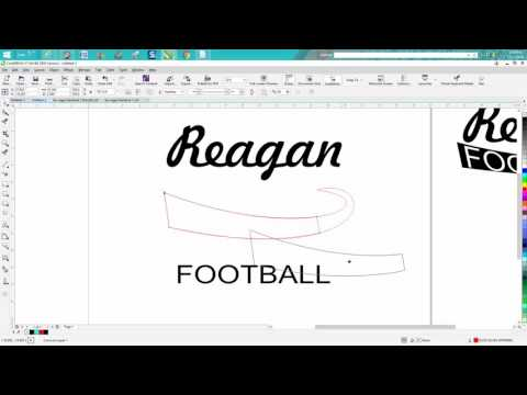 Corel Draw Tips & Tricks Team name with a tail