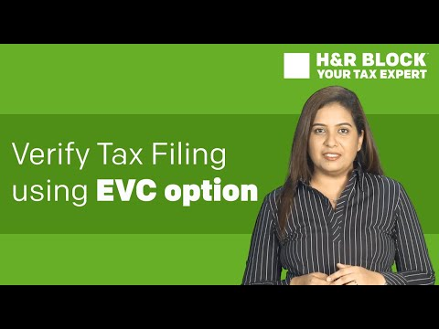 How to verify tax filing using EVC option