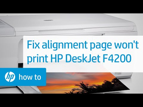 Alignment Page Does Not Print - HP Deskjet F4200 Series Printer