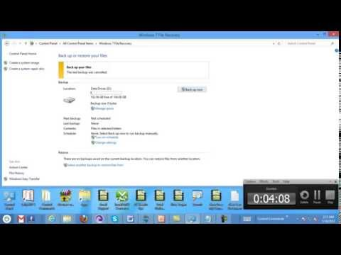 Step by Step How to Backup and Restore Windows 8 Computer