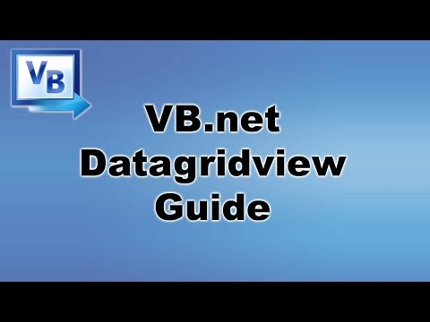 [ Tutorial ] DataGridView - VB.net / Visual Basic Programming