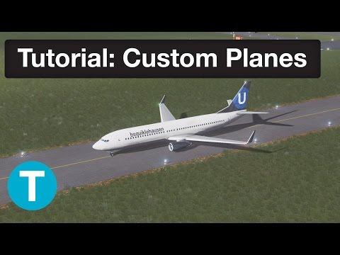 Cities Skylines Tutorials   Custom Plane Livery - with Template!