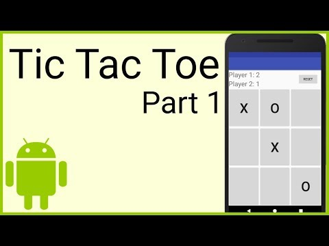 How to Make a Tic Tac Toe Game in Android - Part 1 - THE LAYOUT - Android Studio Tutorial