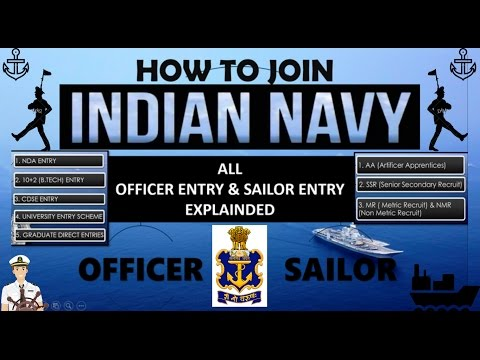 INDIAN NAVY 2018 (Ways To Join INDIAN NAVY) || ALL ENTRY OR JOBS EXPLAINED, HOW TO JOIN INDAIN NAVY