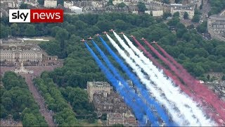 100 planes take part in flyby