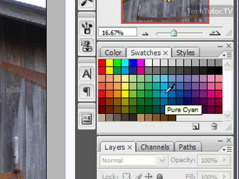 Use the Swatches Palette in Photoshop CS3
