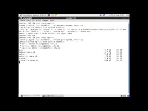 27 Linux CentOS 6 - Gestor de Paquetes YUM Uso de check update
