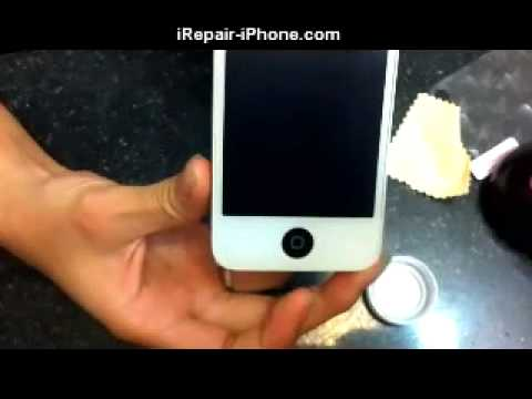 How to: Screen Protector iPhone 4 4s NEW 3d Holographic Screen Install without Water