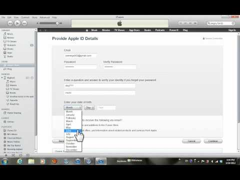How To change itunes account country when creating an apple id
