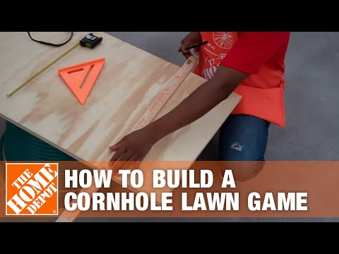 How To Build a Cornhole Lawn Game - The Home Depot