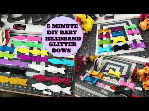 Glitter Bows Baby DIY For Headbands & Clips Do it yourself