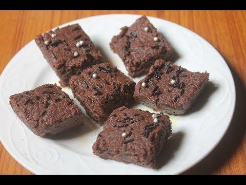 Chocolate Burfi (Barfi) Recipe - Milk Powder Choco Burfi Recipe