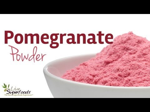 All About Raw Organic Pomegranate Powder - LiveSuperFoods.com