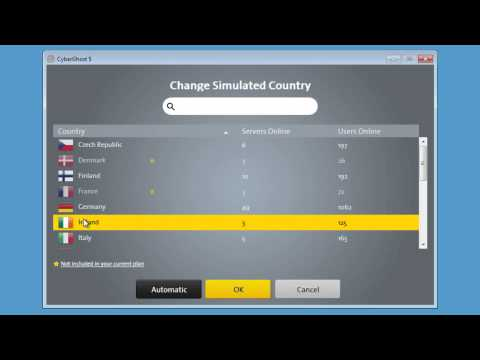 How to change countries in CyberGhost 5