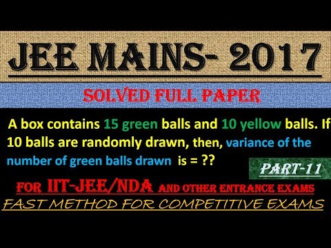 JEE MAINS - 2017 SOLVED MATHEMATICS Part -11 || ALSO IMPORTANT FOR NDA AND OTHER ENTRANCE EXAMS||