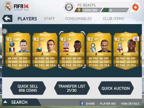 FIFA 14 ios selling my club