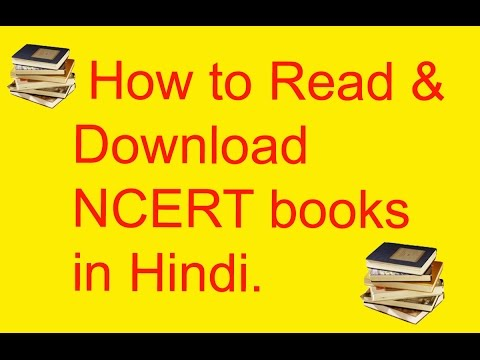 How to read & download NCERT books in Hindi.