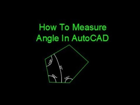 How To Measure Angle In AutoCAD
