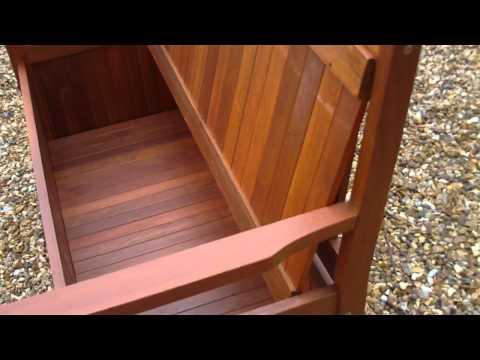 Hardwood Garden Storage Bench