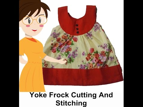Yoke Frock Cutting And Stitching - Tailoring With Usha