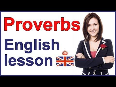 English PROVERBS | Example sentences