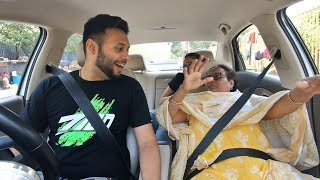 SON TAKES MOM ON HER FIRST CAR RIDE
