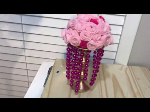 DIY Princess Flower Centerpieces|How to make Flowers Cheap & Easy