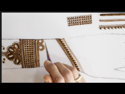 Tutorial 27 : how to draw mehendi design step by step using simple elements
