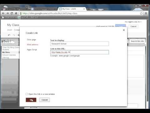 Editing a page in Google Site