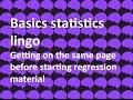 Download Day 1: Basic statistics lingo MP3,3GP,MP4