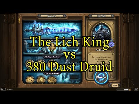 Hearthstone: The Lich King with a 380 Dust Druid Deck
