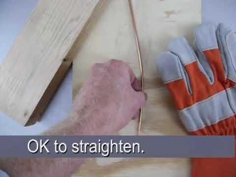 Straightening Heavy Wire by Hand