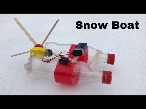 How to Make Electric Snow Boat - Amazing Toy